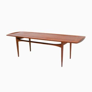 Table Basse en Teck par Edvard Kindt-Larsen, 1950s