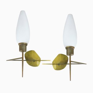Modernist Sconces, 1950s, Set of 2