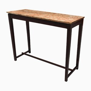 Italian Rosewood and Marble Console Table, 1950s