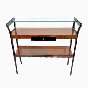 Italian Mahogany Console Table, 1950s
