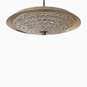 Lampada da soffitto in ottone di Carl Fagerlund per Lyfa, anni '60