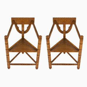 Vintage Swedish Oak Lounge Chairs, Set of 2