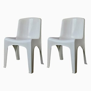 French Space Age Dining Chairs from Gilac, 1970s, Set of 2