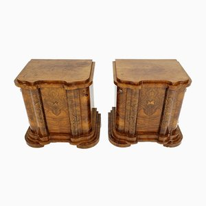 Art Deco Nightstands, Set of 2