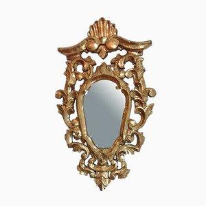 Barocker spanischer Vintage Spiegel mit vergoldetem Holzrahmen