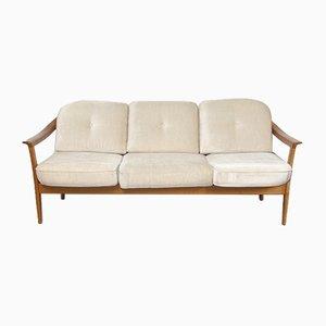 Skandinavisches Sofa mit Gestell aus Teak von Wilhelm Knoll für Walter Knoll / Wilhelm Knoll, 1960er