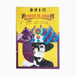 Vintage Once Upon a Time in the West Movie Poster by Stanislav Vajce, 1968