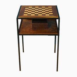 Schachbrett aus Teak, 1960er