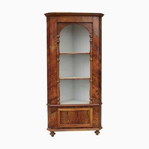 Mueble esquinero italiano de nogal, siglo XIX