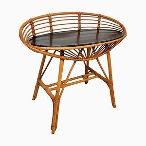 Table Console en Bambou, France, années 60