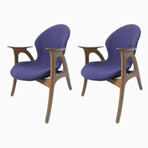 Armchairs by Aage Christiansen for Erhardsen & Andersen, 1960s, Set of 2
