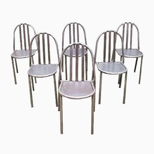 Chaises de Salle à Manger par Robert Mallet-Stevens, années 50, Set de 6