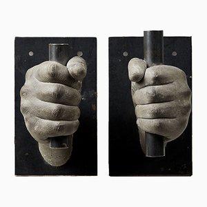 Kerzenhalter aus Beton & Eisen von Gabriel de Knoop, 2000er, 2er Set