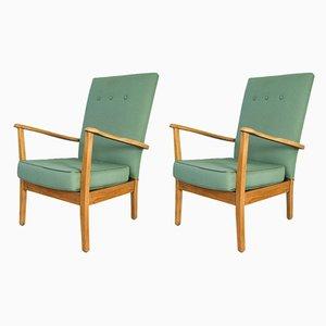 Mid-Century Armlehnstühle mit Gestell aus Teak, 2er Set