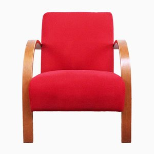 Roter Mid-Century Sessel