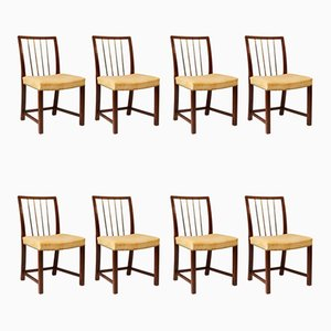 Vintage Danish Side Chairs, 1940s, Set of 8