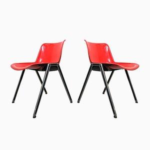 Chaises de Bureau Modus par Osvaldo Borsani pour Tecno, années 70, Set de 2