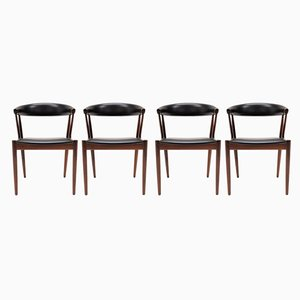 Rosewood BA113 Dining Chairs by Johannes Andersen for Brdr. Andersen Møbelfabrik, 1966, Set of 4