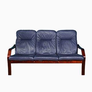 Vintage 3-Sitzer Sofa mit Gestell aus Bugholz, 1980er
