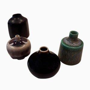 Petits Vases par Carl-Harry Stålhane pour Rörstrand, années 50, Set de 4