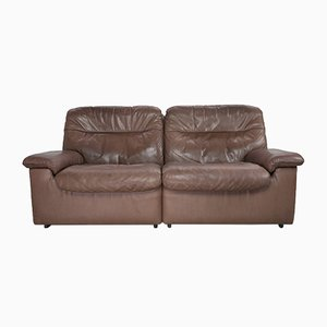 Brown Leather DS66 Sofa from de Sede, 1970s