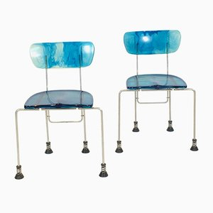 Italian Side Chairs by Gaetano Pesce for Bernini, 1990s, Set of 2