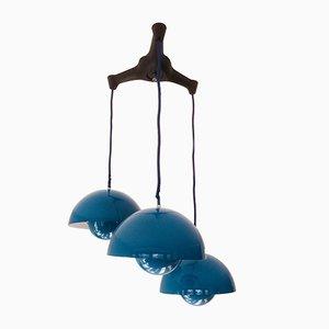 Lampade da soffitto di Verner Panton per Louis Poulsen, anni '60, set di 3