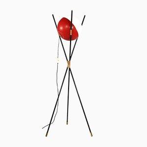 Lámpara de pie trípode italiana Mid-Century de Stilnovo, años 50