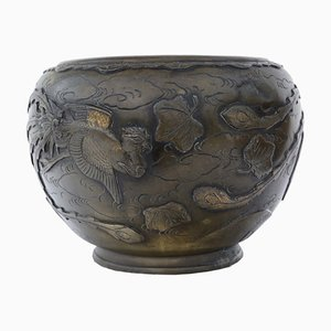 Antique Oriental Bronze Bowl