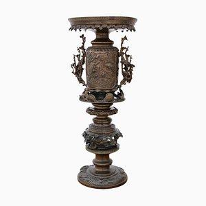 Vaso decorativo antico in bronzo, Giappone