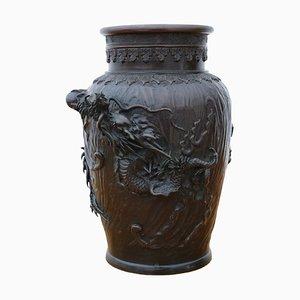 Jarrón japonés antiguo de bronce