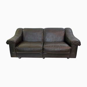 Vintage Brown Leather 2-Seater Sofa by Vatne Mobler