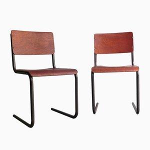 Bauhaus Schreibtischstuhl aus Schichtholz, 1950er
