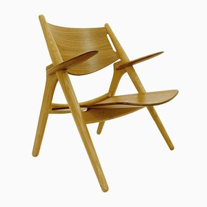 Vintage Danish Sawbuck Armchair by Hans J. Wegner for Carl Hansen & Søn