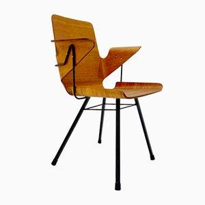 Italienischer Vintage Armlehnstuhl aus Schichtholz & Eisen