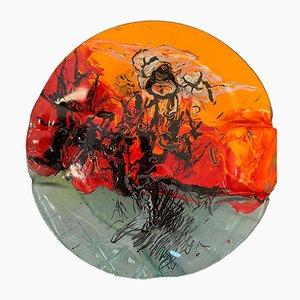Abstrakte Skulptur aus Glas von Paolo Cupparoni für Curvet, 1970er