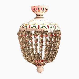 Venetian Murano Glass and Porcelain Chandelier, 1940s