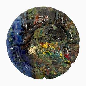 Glasvase von Paolo Cupparoni für Curvet, 1970er