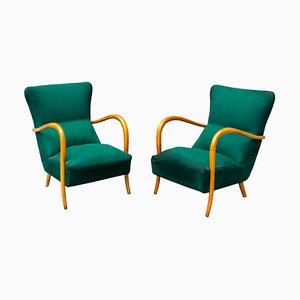 Italian Armchairs, 1950s, Set of 2