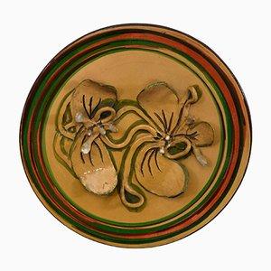 Großer dekorativer Teller von Riboni Sandro, 1970er