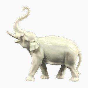Vintage Elefanten Figur von Oehme Erich für Meissen Porzellan