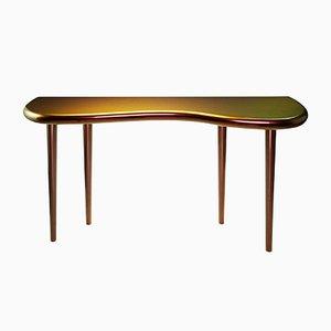 Table Console Andrienne Laquée Caméléon par Philippe Cramer