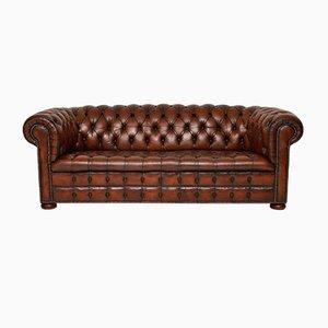 Sofá estilo victoriano de cuero, años 30