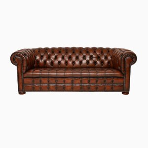 Victorian Style Leather Sofa, 1930s