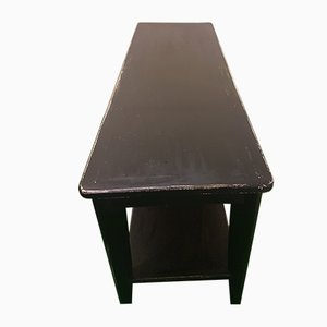 Black Lacquered Wood Side Table, 1950s