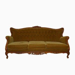 Mid-Century Chippendale 3-Sitzer Sofa, 1960er