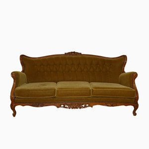 Mid-Century Chippendale Style 3-Seater Sofa, 1960s