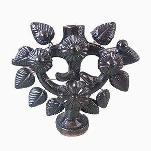 Portacandele in ceramica e metallo, anni '60