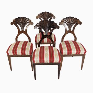 Antique Biedermeier Dining Chairs, Set of 4
