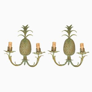Bronze Pineapple Lamps, 1970s, Set of 2